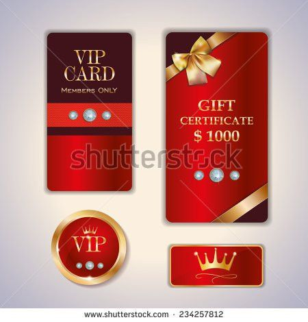 Vip Club Card Design Templates Crystals Stock Vector 234236374 ...