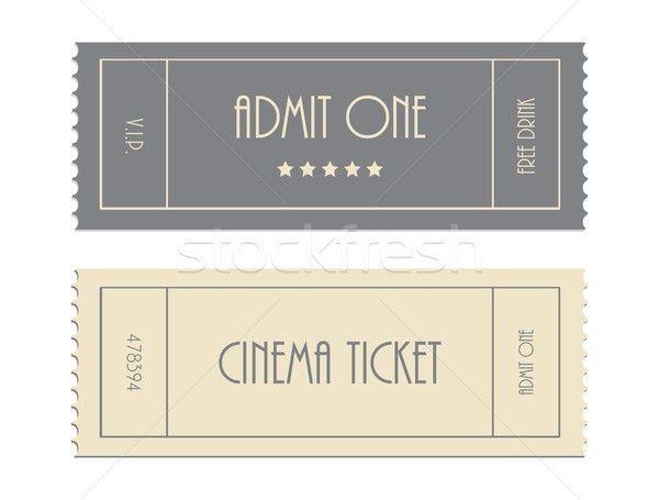 special vector ticket template, admit one, cinema ticket vector ...