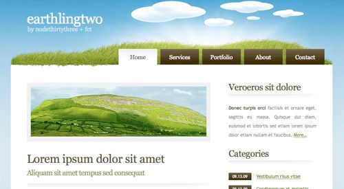 18 Free HTML Templates Images - HTML Web Templates Free Download ...