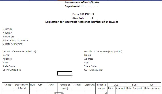 GST INVOICE FORMAT – All About Goods and Services Tax