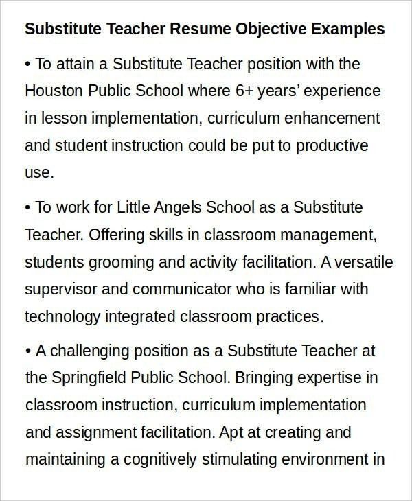 objective for a teacher resume download education resume - Objective For A Teacher Resume