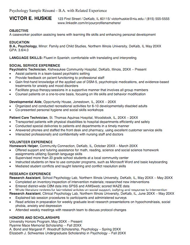 psychology resume sample psychology resume templates branch