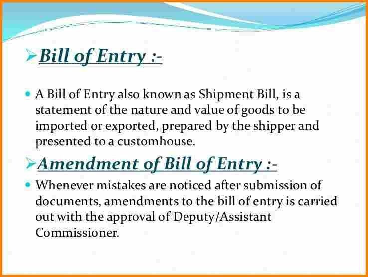 Format For A Bill | Blank.csat.co