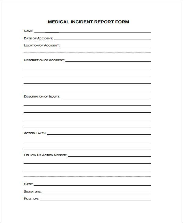 Medical Incident Report Form [Nfgaccountability.com ]