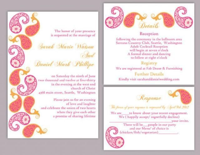 Indian Wedding Invitation Card Template Editable ~ Matik for .