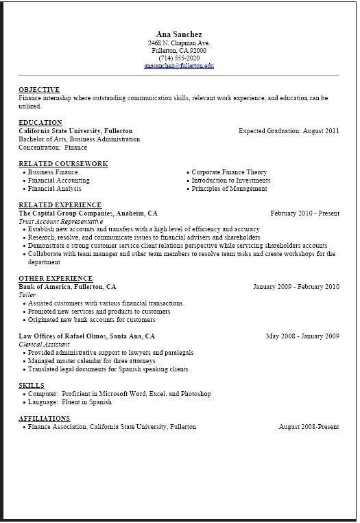College Student Resume Template – Okurgezer.co