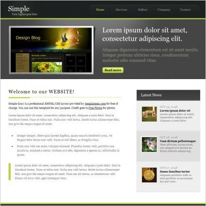 Simple css template free website templates for free download about ...