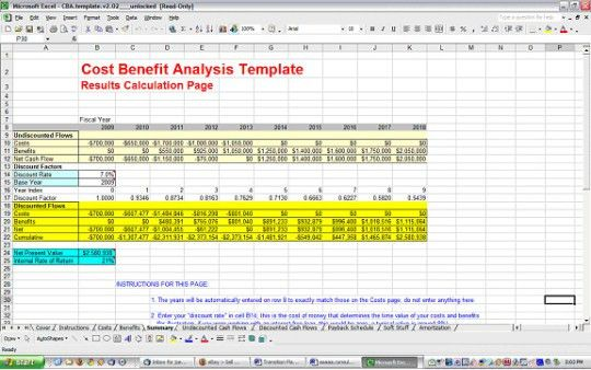Cost Benefit Analysis Template - Free download and software ...