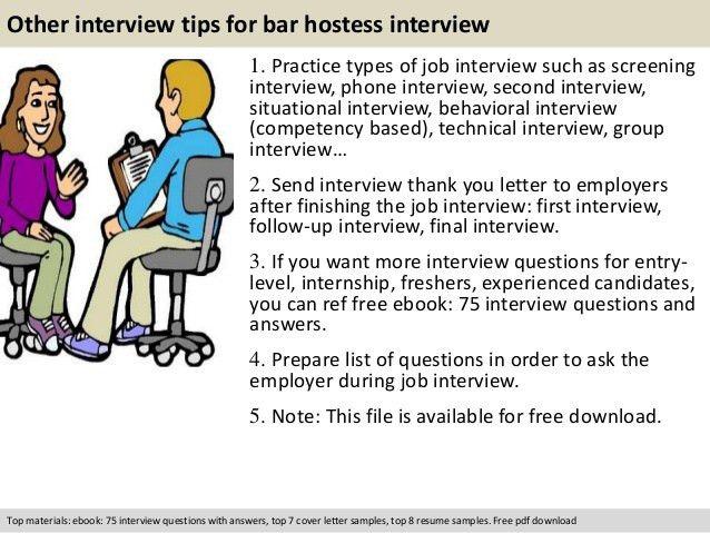 Bar hostess interview questions