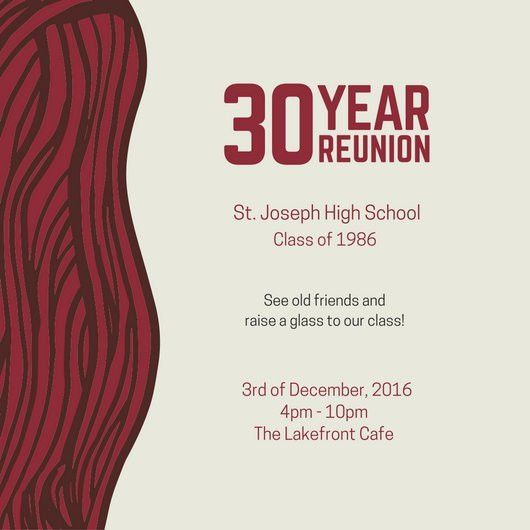 Class Reunion Invitation - Templates by Canva