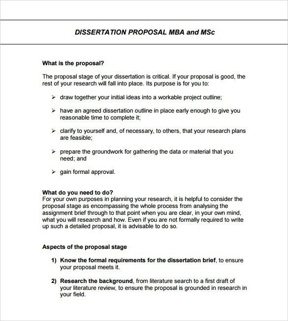 Sample Formal Proposal Template - 7+ Free Documents in PDF, Word