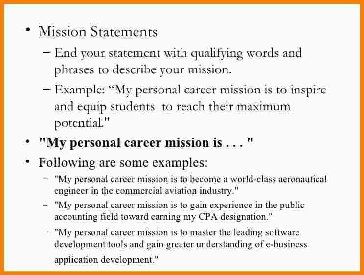 10+ example of mission statement | Statement Information