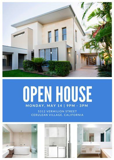 Open House Flyer. 34 Spectacular Open House Flyers : Psd & Word ...