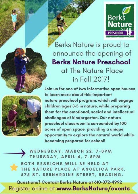 Berks Nature Preschool Open House - Berks Nature