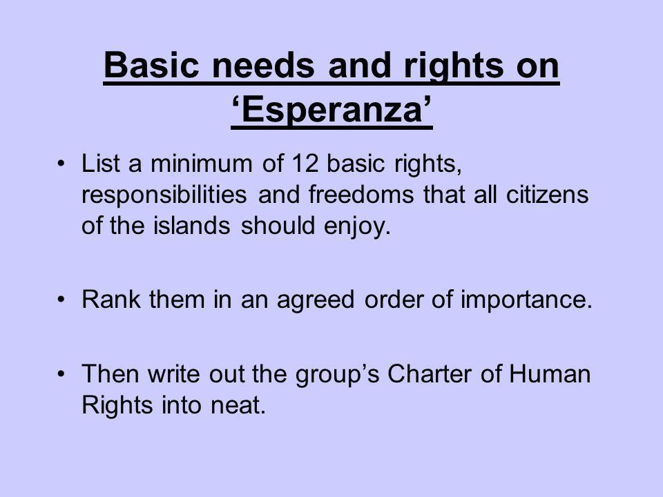 What are human rights?. Lesson Aims To understand the rights and ...