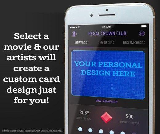 Personalized Crown Club Card Design - Regal Crown Club | Regal Cinemas