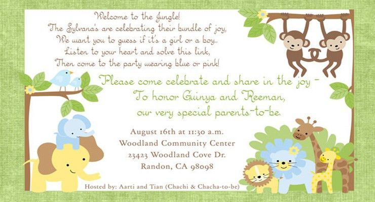 Baby Shower Invitation Quotes - Themesflip.Com