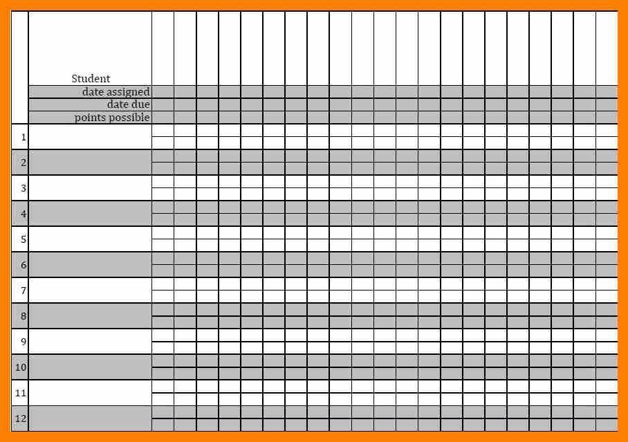 12+ printable gradebook template | attendance sheet