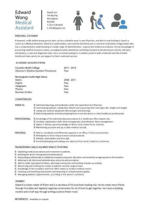 healthcare assistant CV sample, clinical, resume, CV examples ...