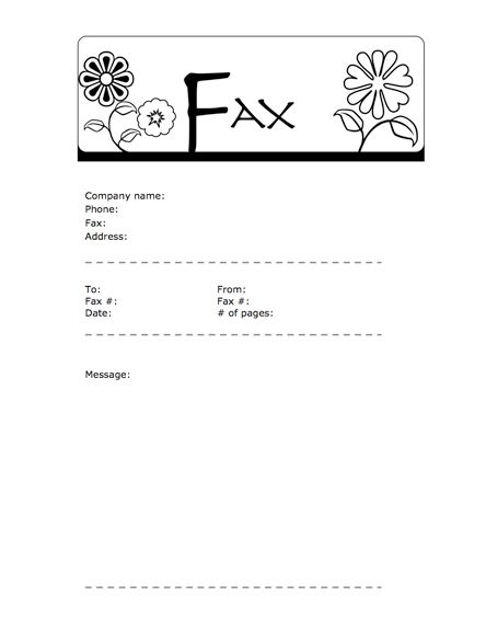 Free Fax Cover Sheets & Fax Templates - MyFax