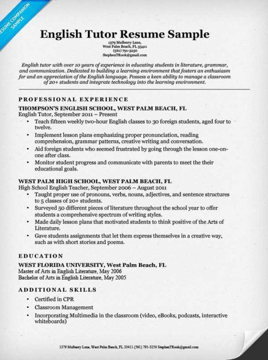 Preschool Teacher Resume. Preschool Teacher Resume Template ...