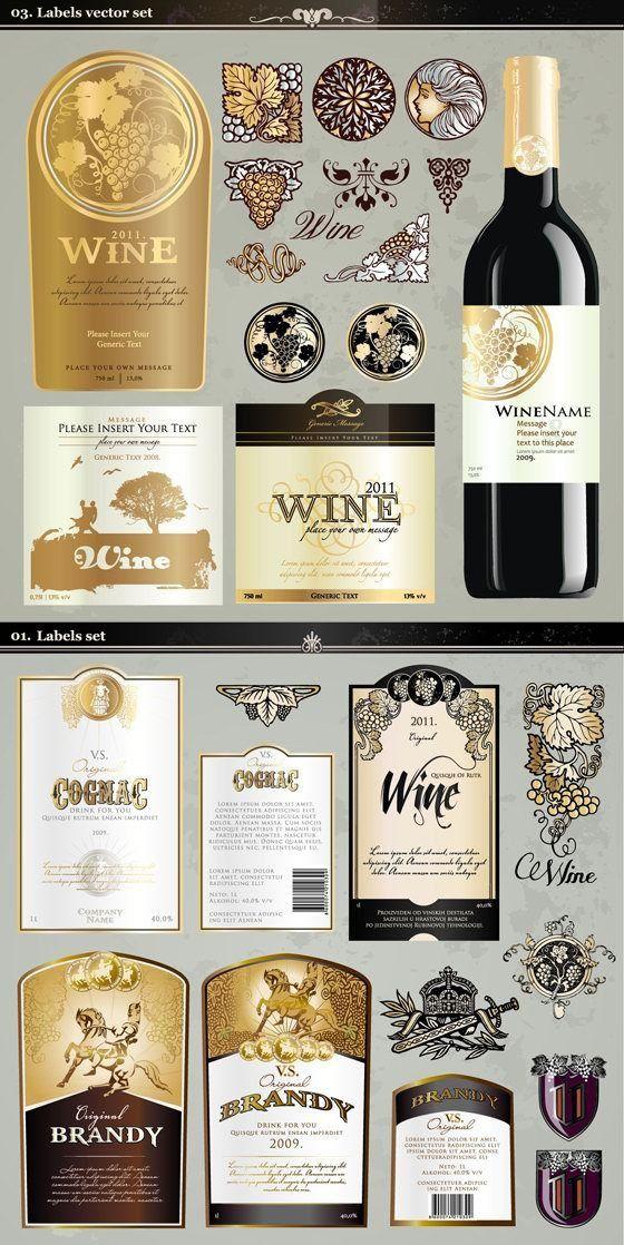 Wine labels vector art downloads – Over millions vectors, stock ...