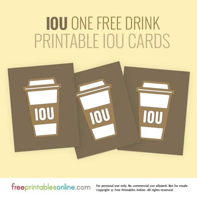 Coffee Lover Printable IOU Vouchers | Free Printables Online