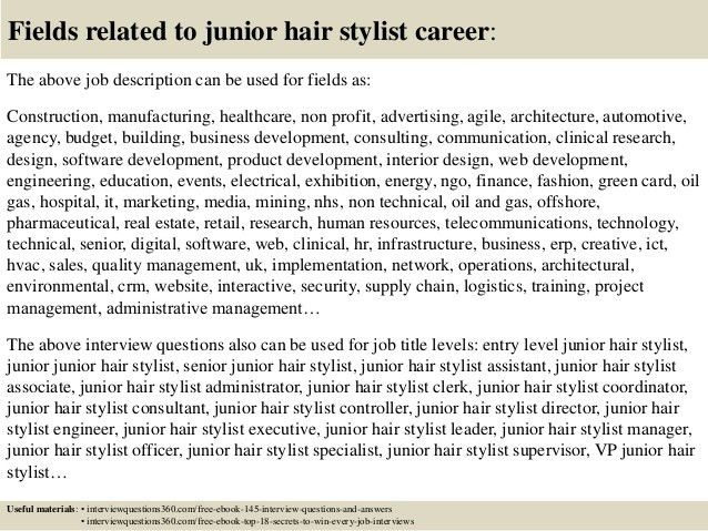 Top 10 junior hair stylist interview questions and answers
