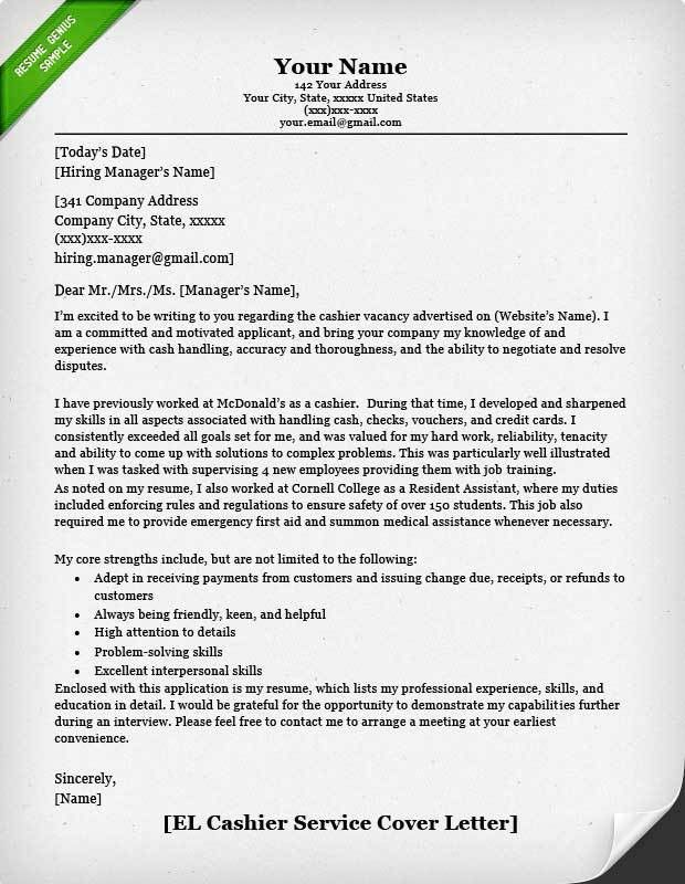 Resume Cover Letter Examples. Job Cover Letter Sample For Resume ...