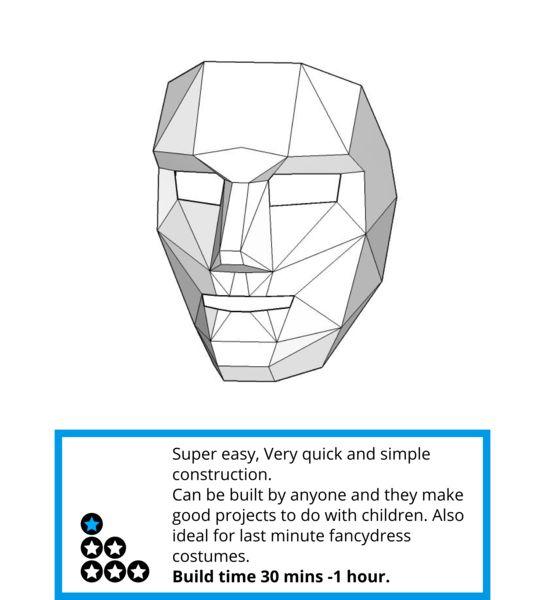 Polygon Face Mask - Wintercroft   Bizarro World   Pinterest   Face ...