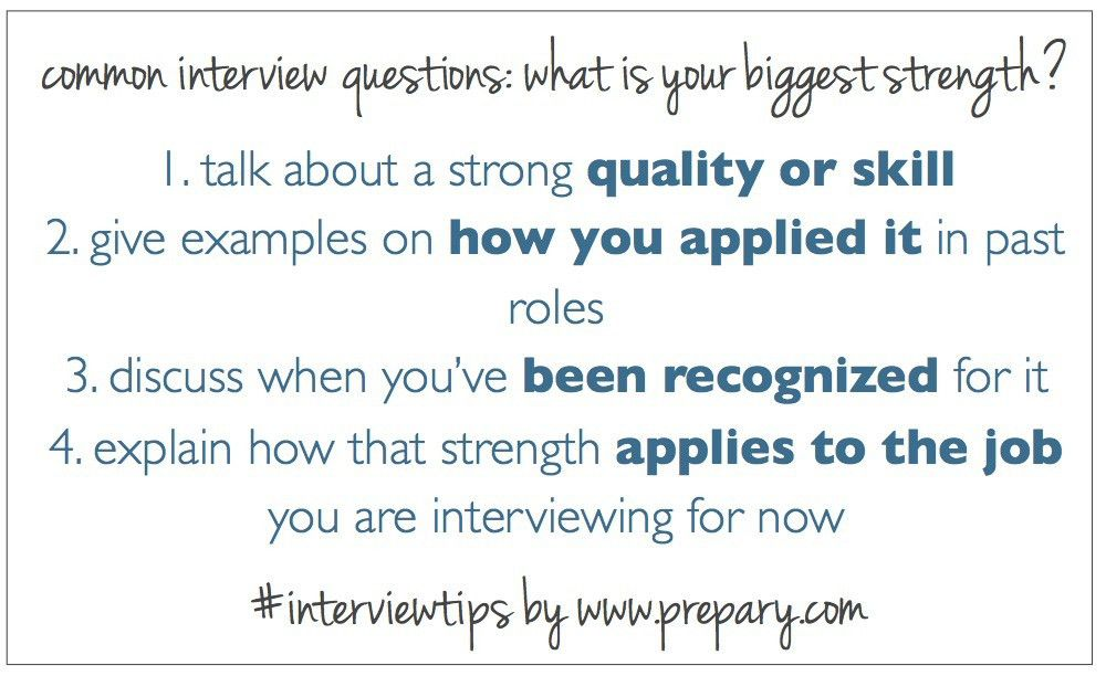 Common interview questions: What is your greatest strength? : The ...