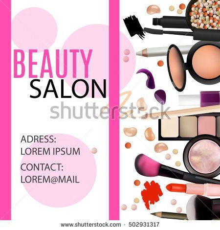Gift Voucher Cosmetics Pink Background Vector Stock Vector ...