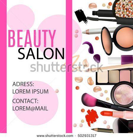 Gift Voucher Cosmetics Pink Background Vector Stock Vector ...