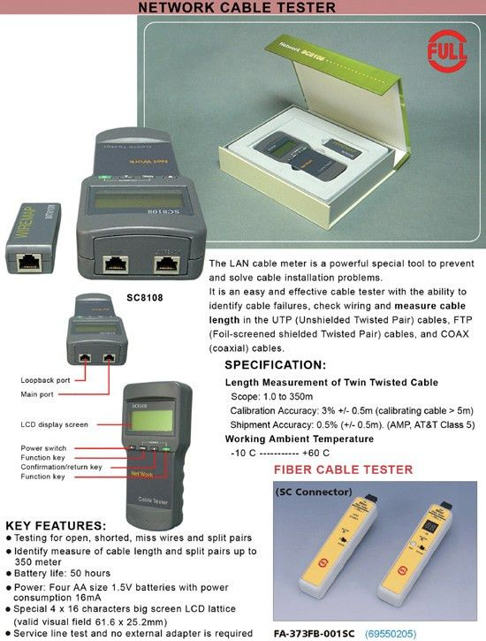 Buy Sc 8108 Multifunctional Network Cable Tester Online | Best ...