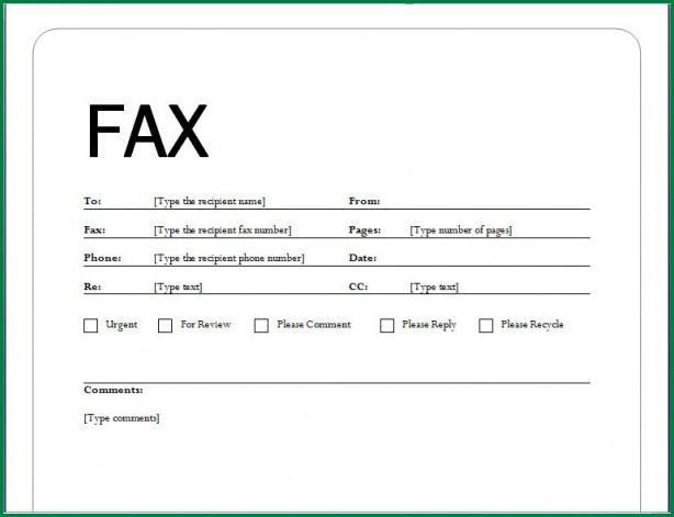 12 Fax Cover Letter Sample | applicationsformat.info