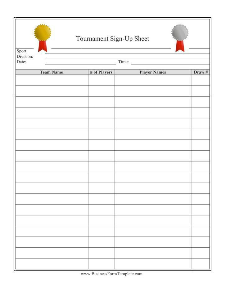 Sign Up Sheets | Download Free & Premium Templates, Forms ...