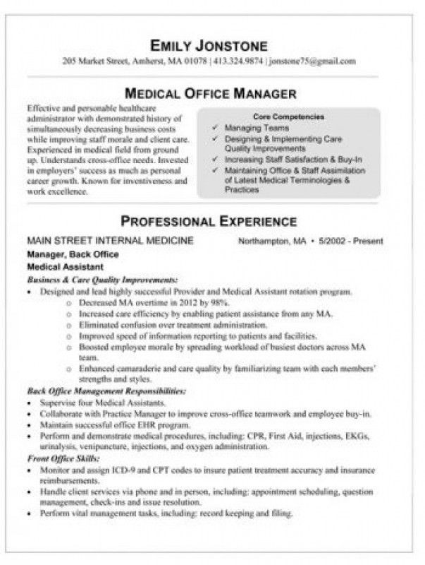 Medical Office Manager Resume – Resume Examples