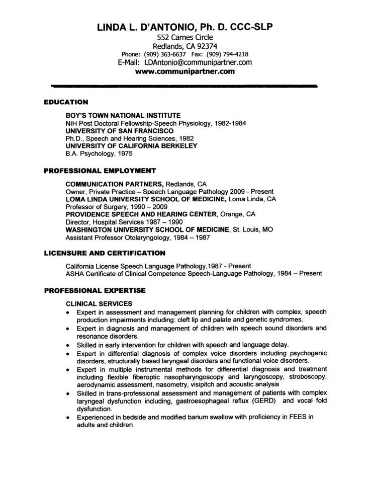 Speech Pathologist Cover Letter] Speech Language Therapist Cover .