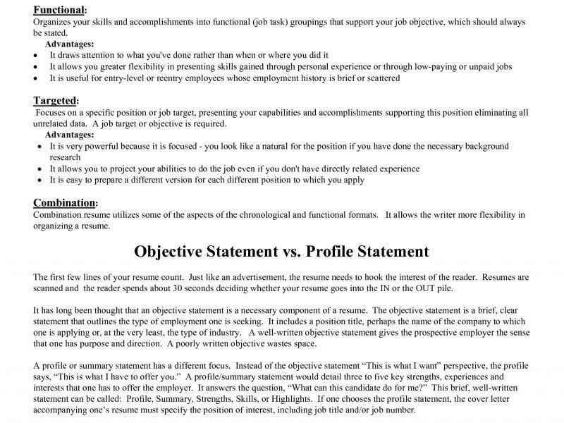 Good Resume Objective. General Objective Statement For Resume ...