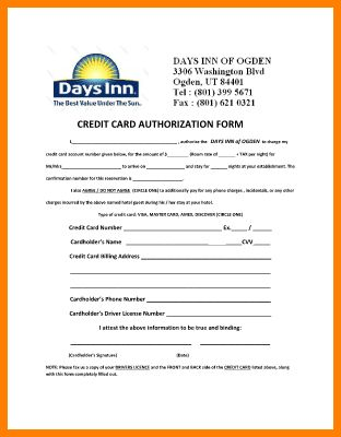 8+ credit card authorization form | Card Authorization 2017