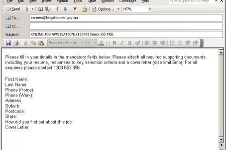 Job Application Email Examples - [imerbilgisayar.com]