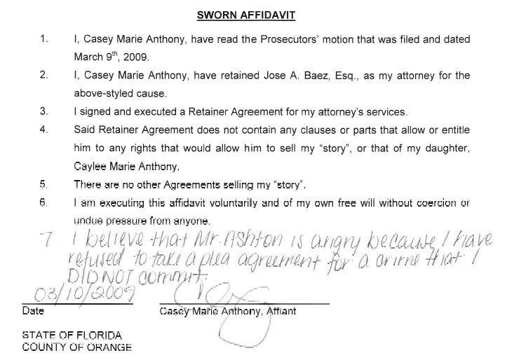 Sworn Statement