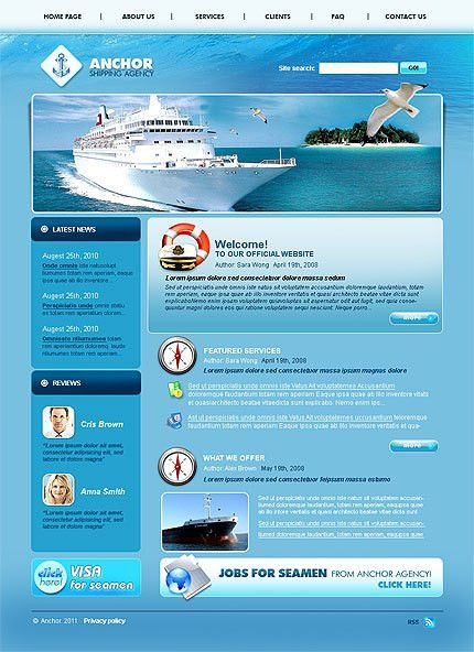 Shipping Website Template #1131, Css full website templates at ...