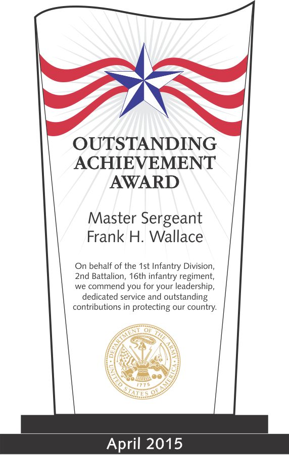 Army Outstanding Achievement Award (#324-1) | Wording Ideas | DIY ...