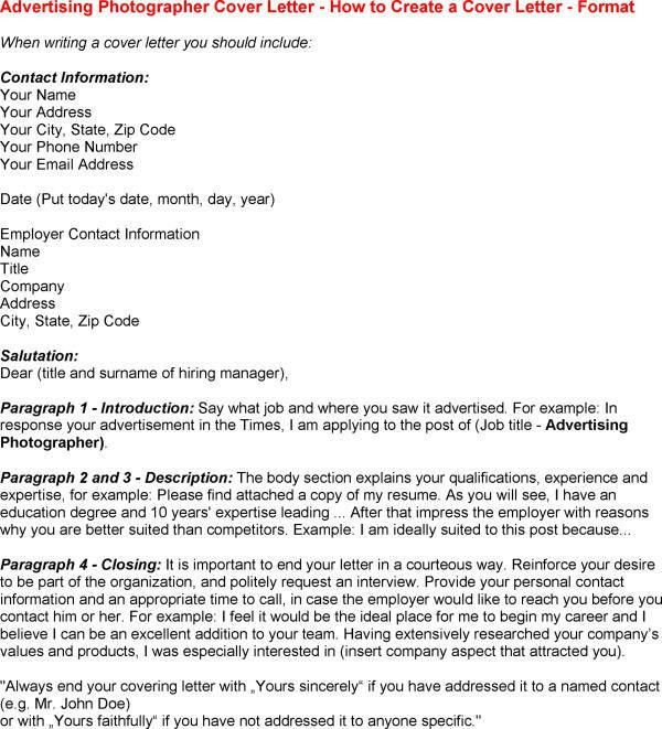 Photographer Cover Letter Sample Pictures within Photography Cover ...