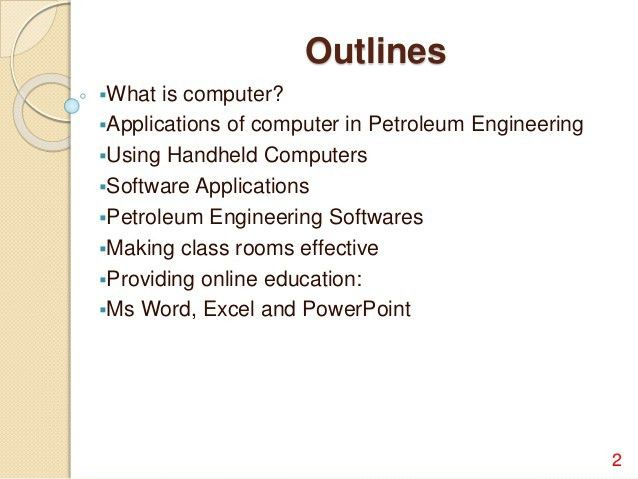 Importance of Computer In Petroleum Engineering