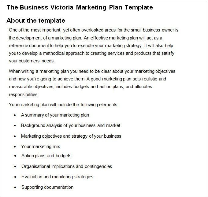 Marketing Business Plan - Free Word PDF Documents Download | Free ...
