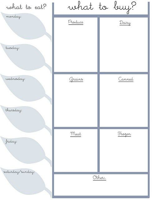 Super Cute, Free Grocery List Templates! | One Cheap Utah Chick