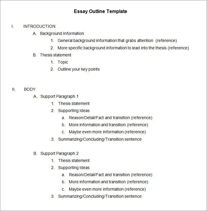 21+ Outline Templates – Free Sample, Example Format Download ...