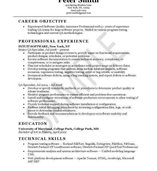 Quality Assurance Resume Examples. Quality Assurance Resume ...